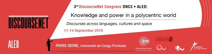 DNC3-ALED Congress Discourse, Knowledge and Power, 11-14/09/2019, Paris Seine